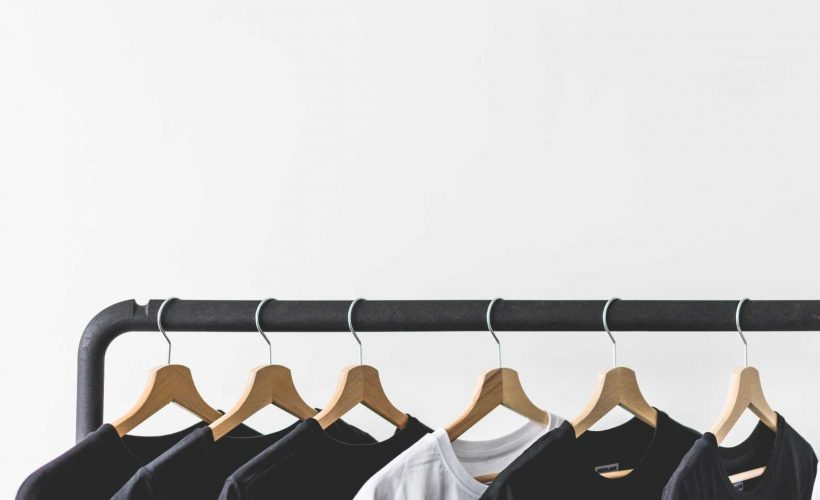T-Shirts on Rack with Room for Text