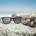 Funny USA America Flag Retro Sunglasses