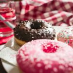 Three Yummy Sweet Colorful Donuts